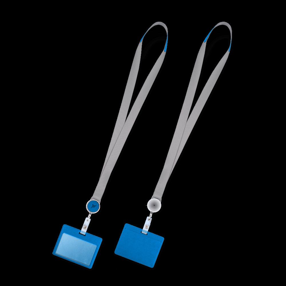 Лента с карманом горизонтальным, цвет синий