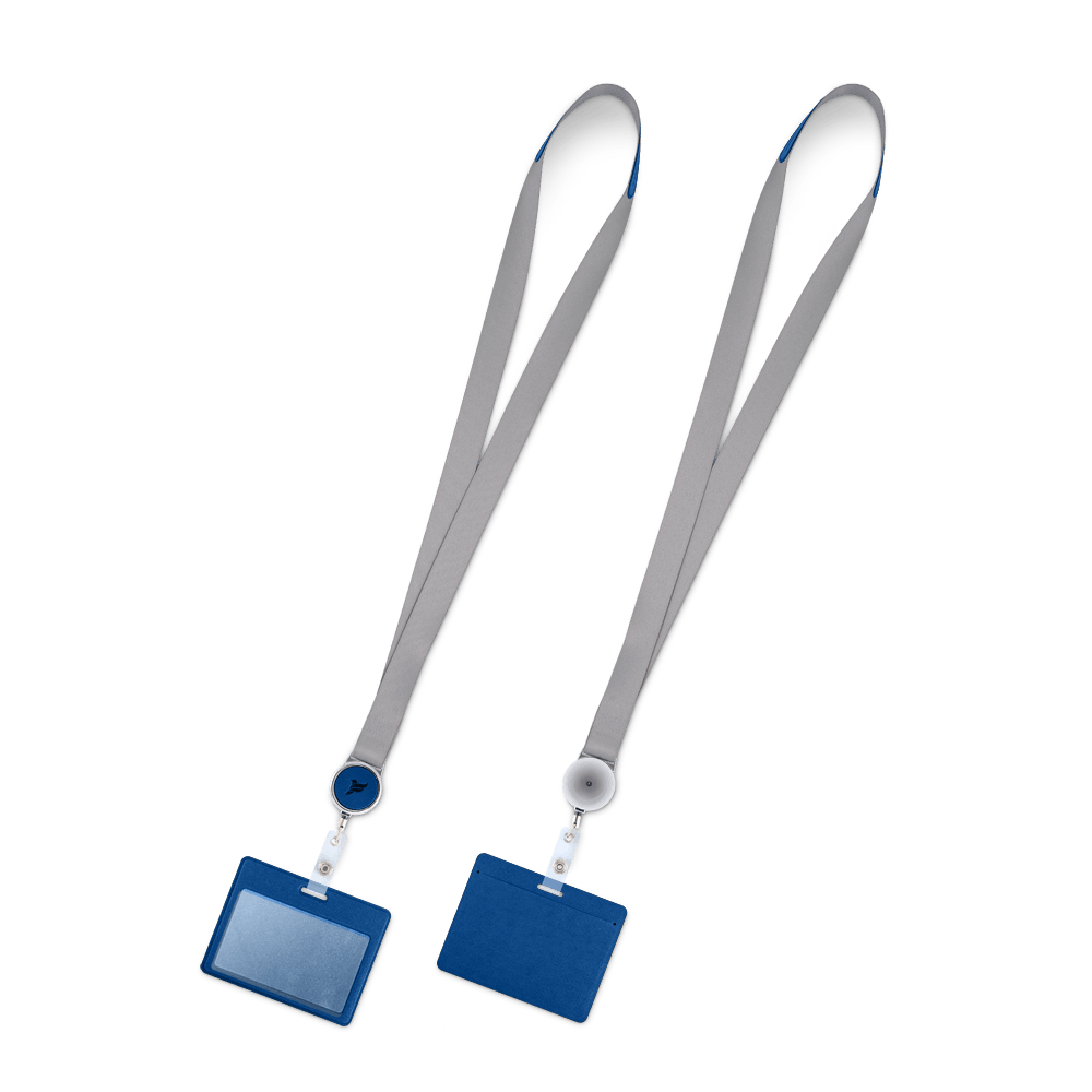 Лента с карманом горизонтальным, цвет темно-синий