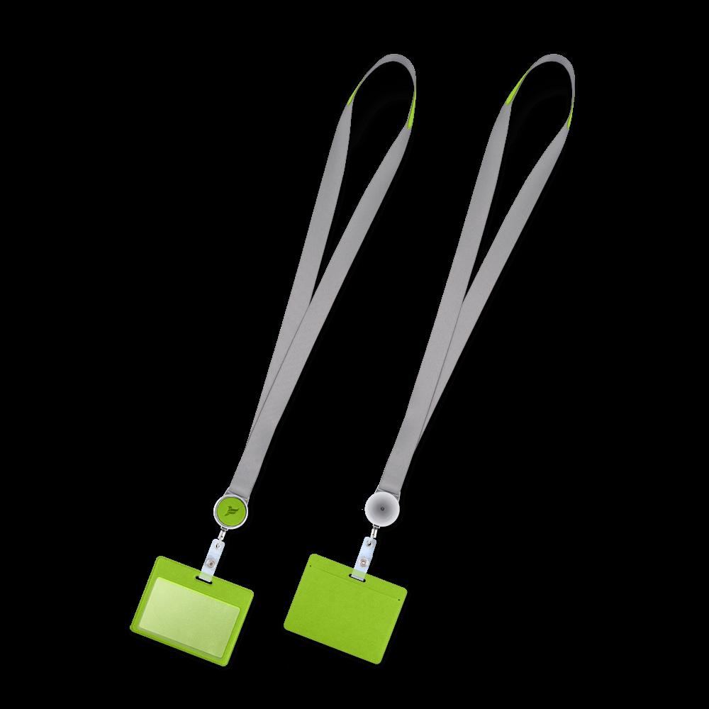Лента с карманом горизонтальным, цвет зеленый