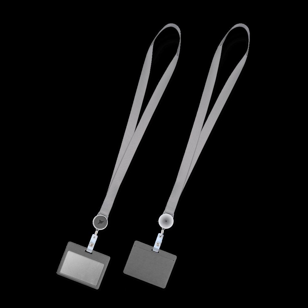 Лента с карманом горизонтальным, цвет серый