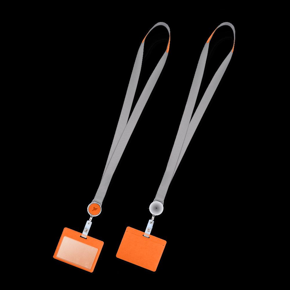 Лента с карманом горизонтальным, цвет оранжевый