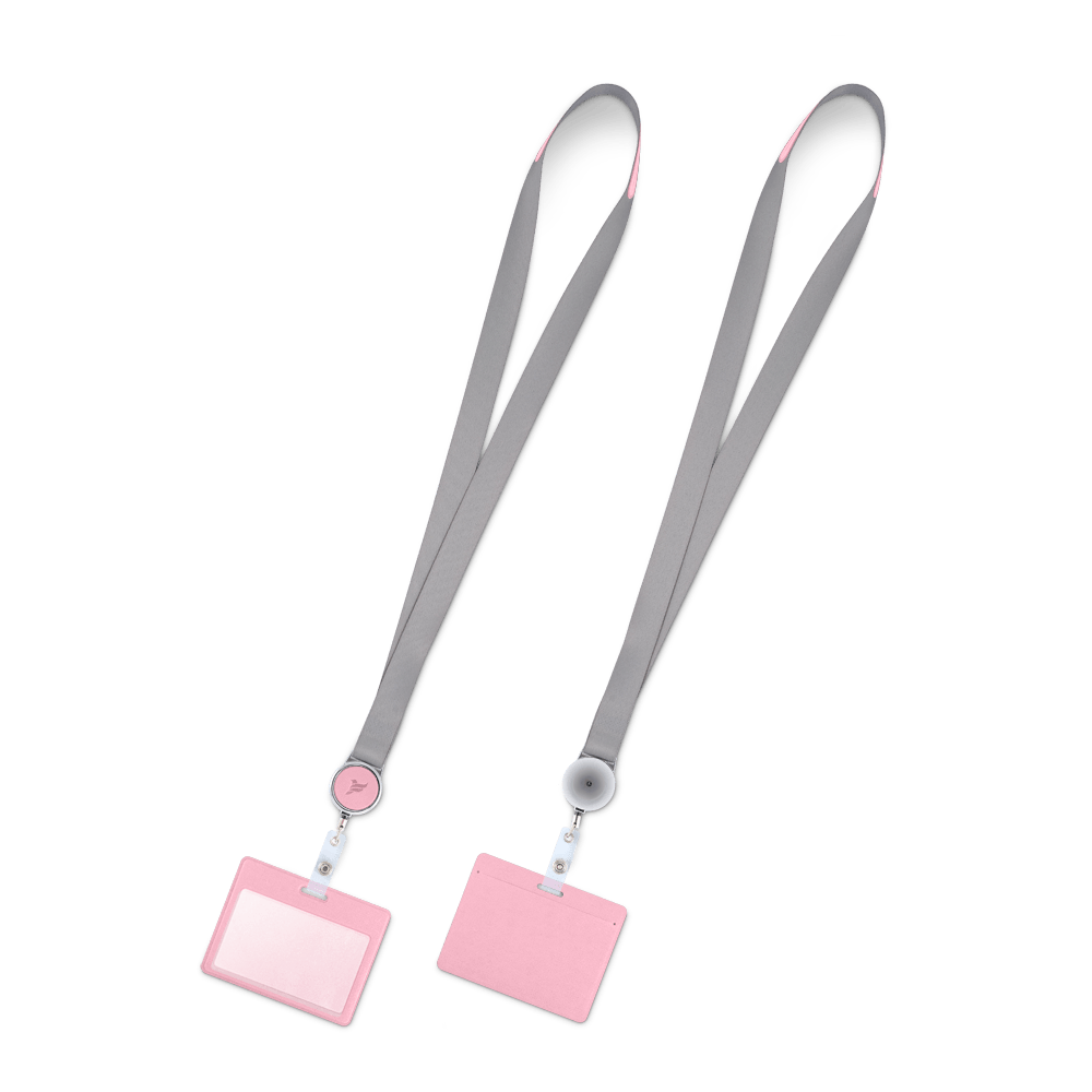 Лента с карманом горизонтальным, цвет розовый
