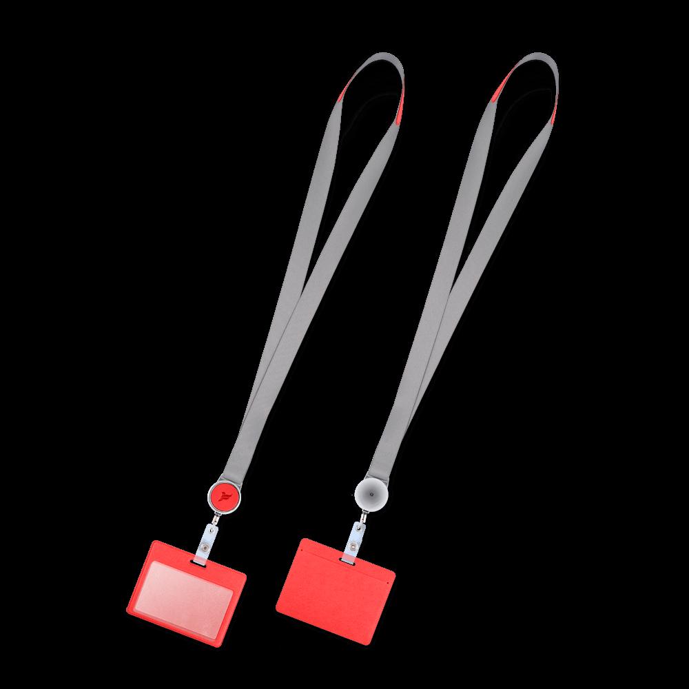 Лента с карманом горизонтальным, цвет красный