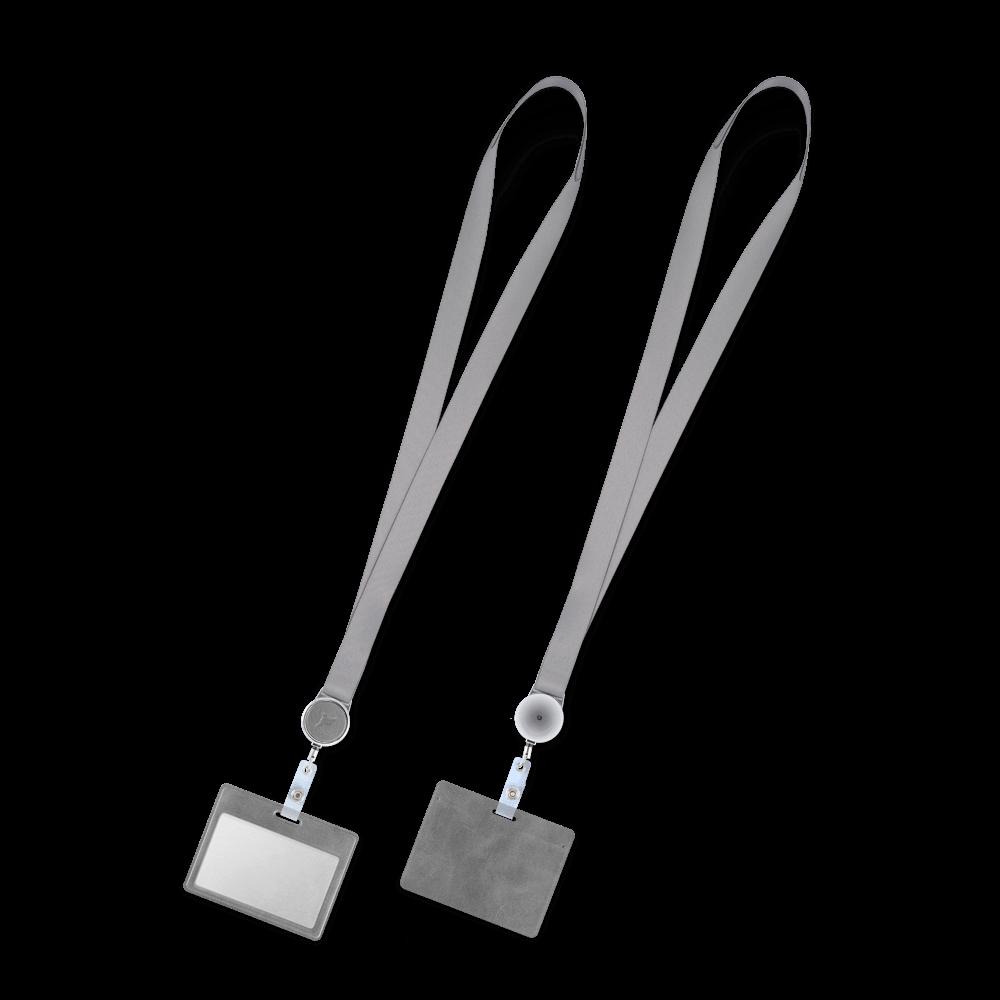 Лента с карманом горизонтальным, цвет серый classic