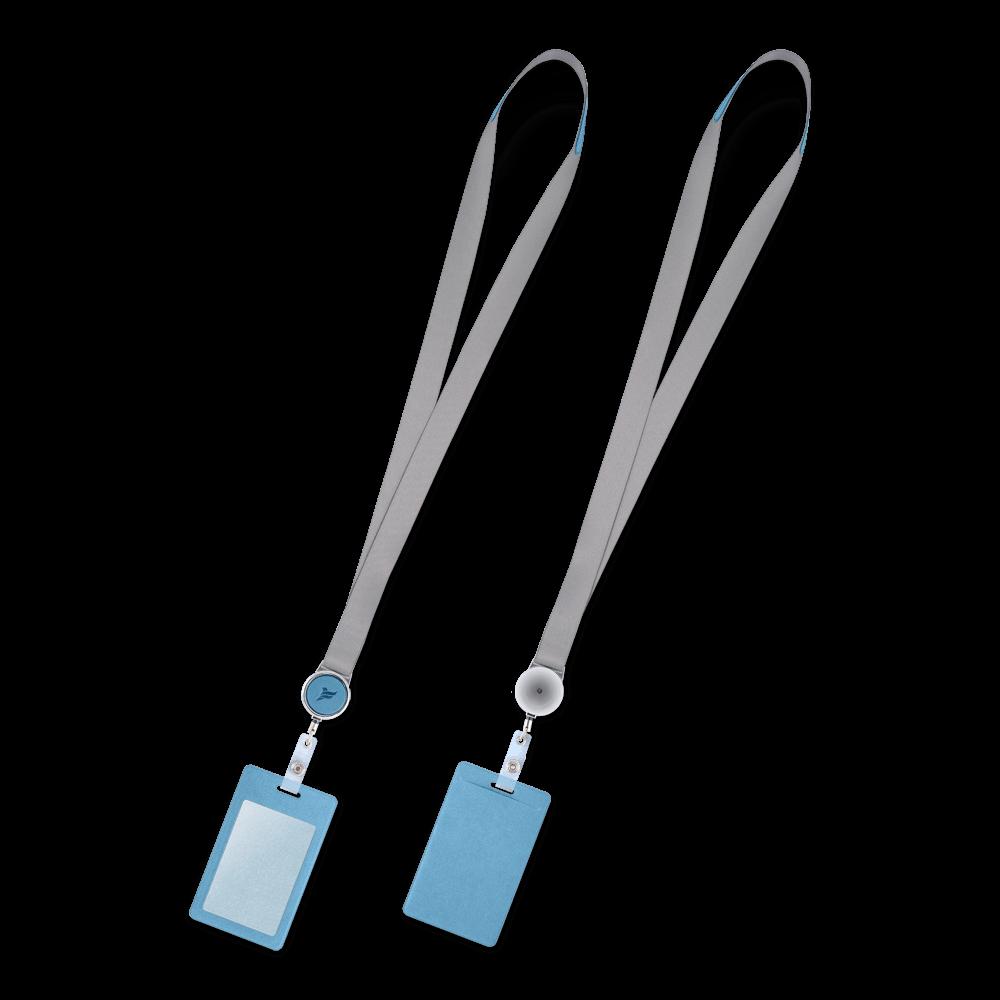 Лента с карманом вертикальным, цвет голубой