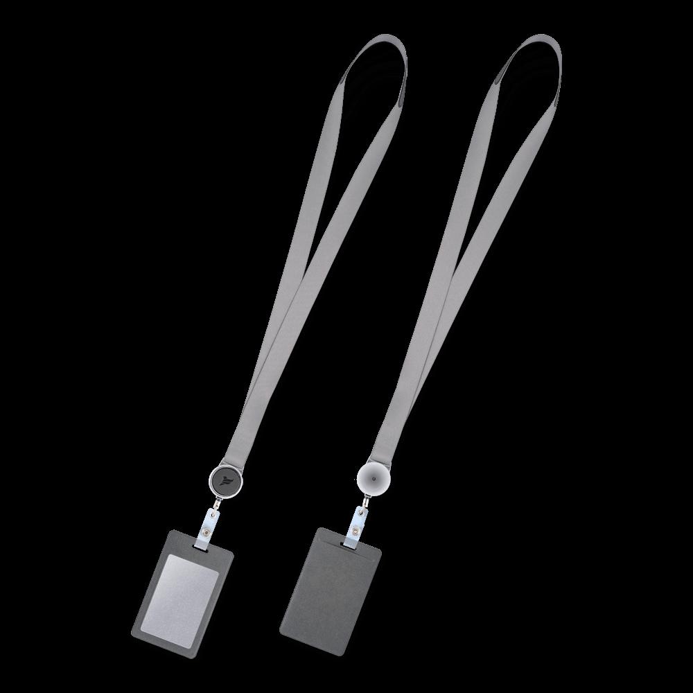 Лента с карманом вертикальным, цвет серый