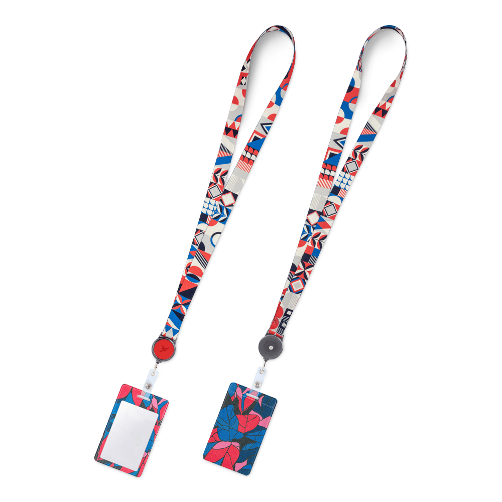 Лента с карманом вертикальным, полноцветная печать