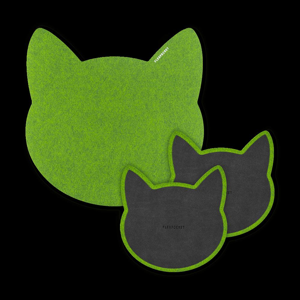 Настольный набор из фетра «Котики», цвет серый