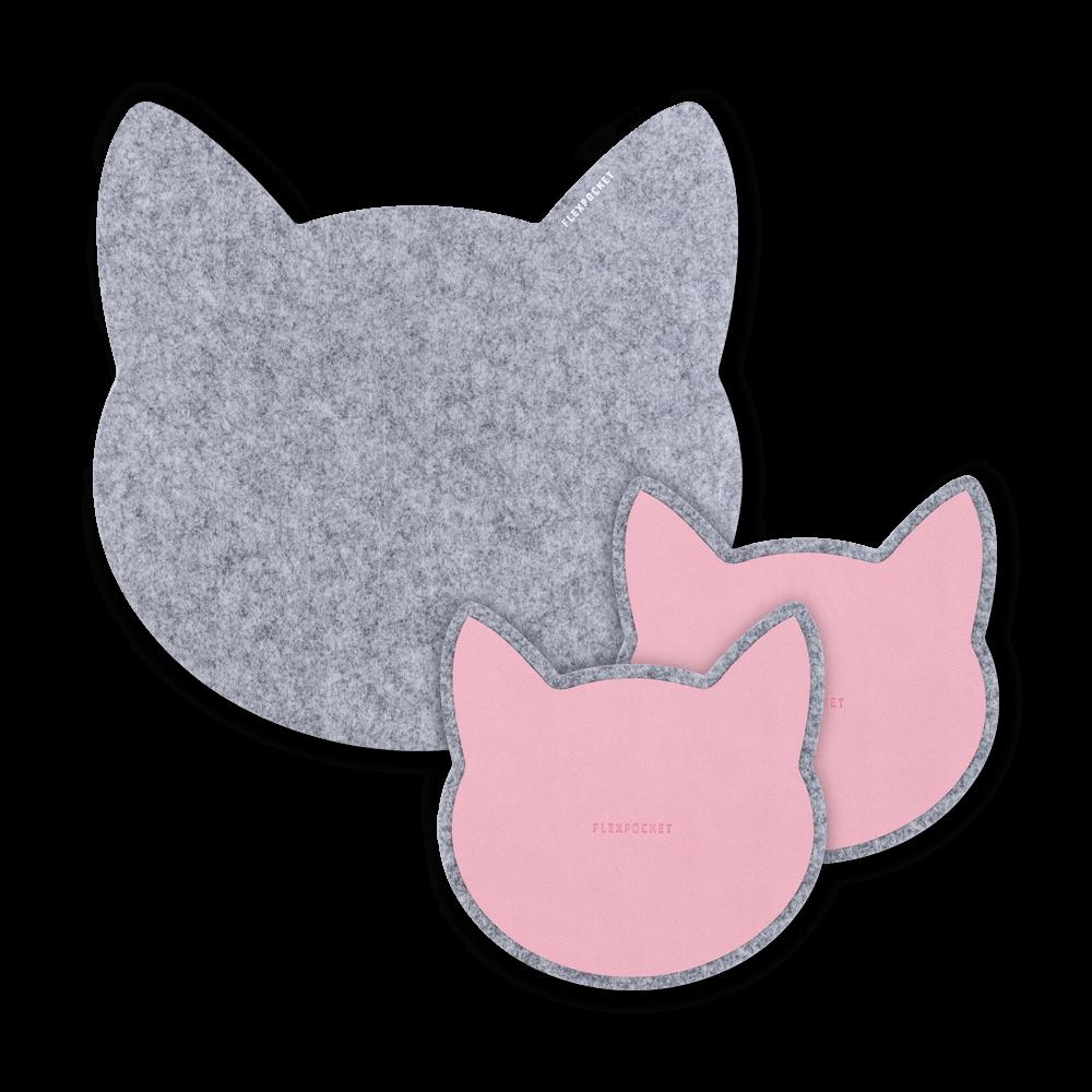 Настольный набор из фетра «Котики», цвет розовый