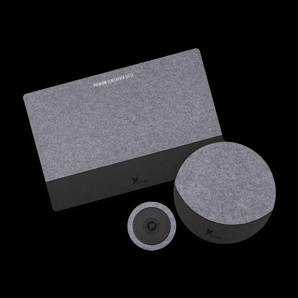 Настольный набор из фетра, цвет черный