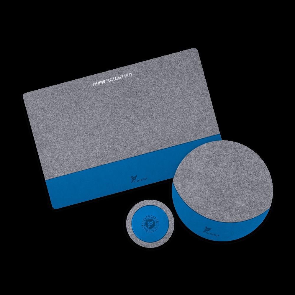 Настольный набор из фетра, цвет синий