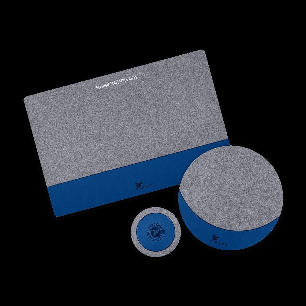 Настольный набор из фетра, цвет темно-синий