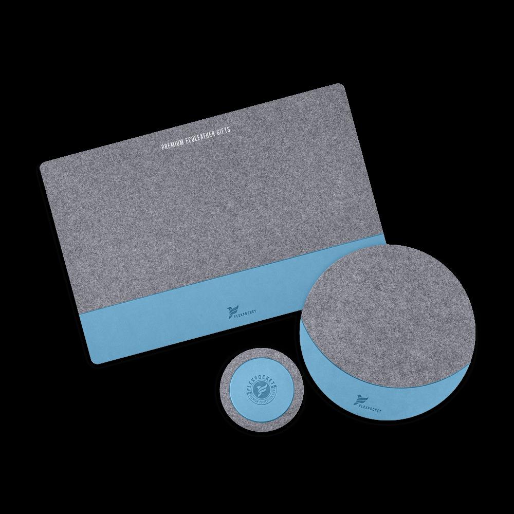 Настольный набор из фетра, цвет голубой