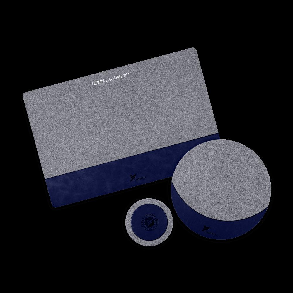 Настольный набор из фетра, цвет темно-синий classic