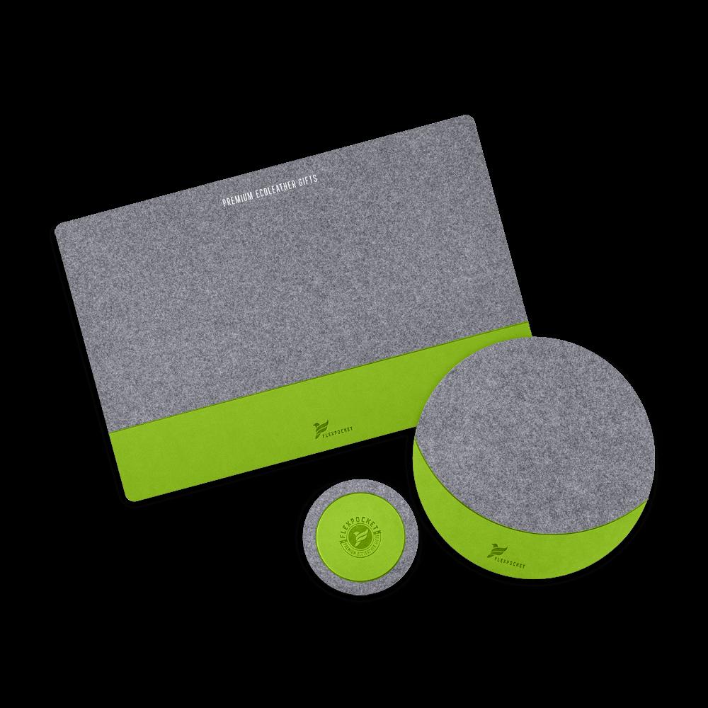Настольный набор из фетра, цвет зеленый