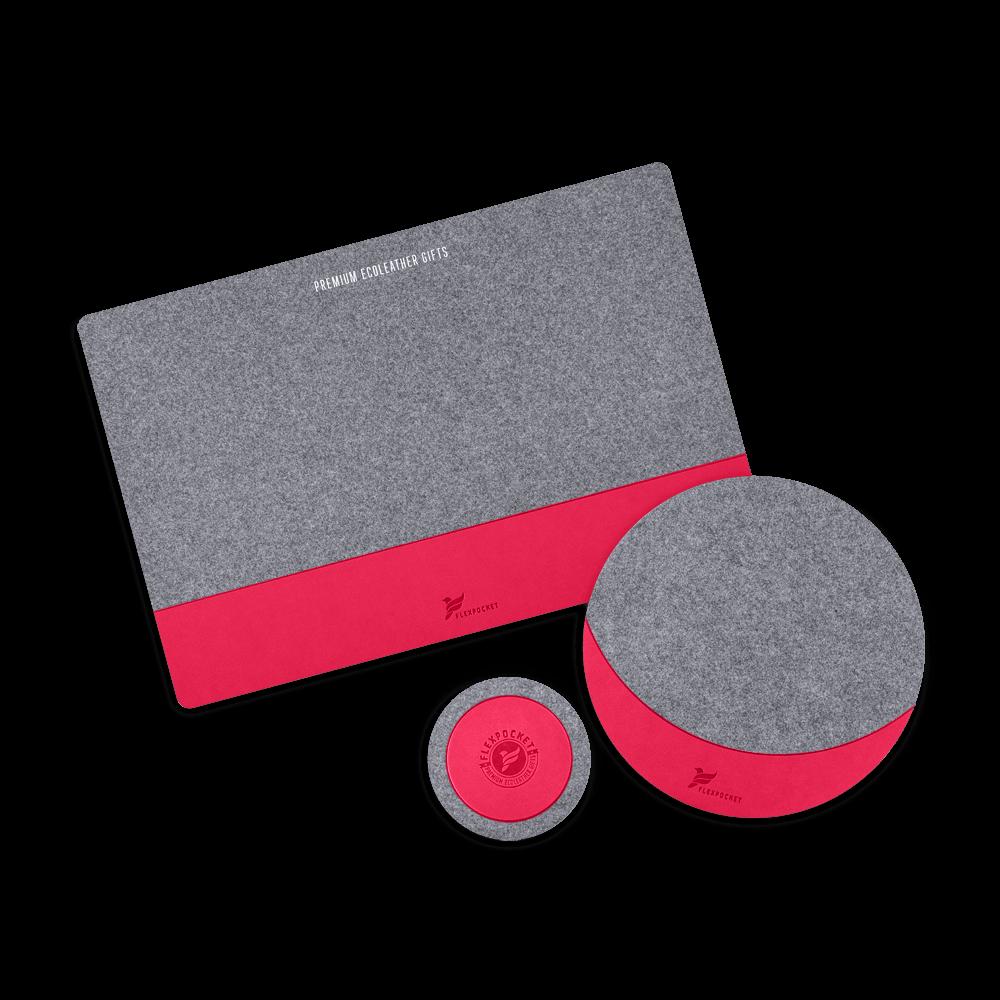 Настольный набор из фетра, цвет маджента