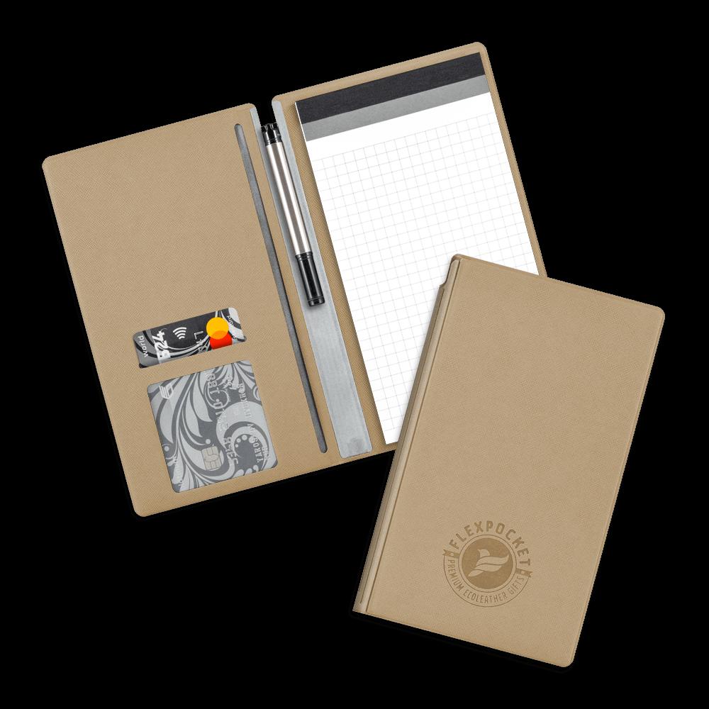 Блокнот-планшет А6 с обложкой, цвет бежевый