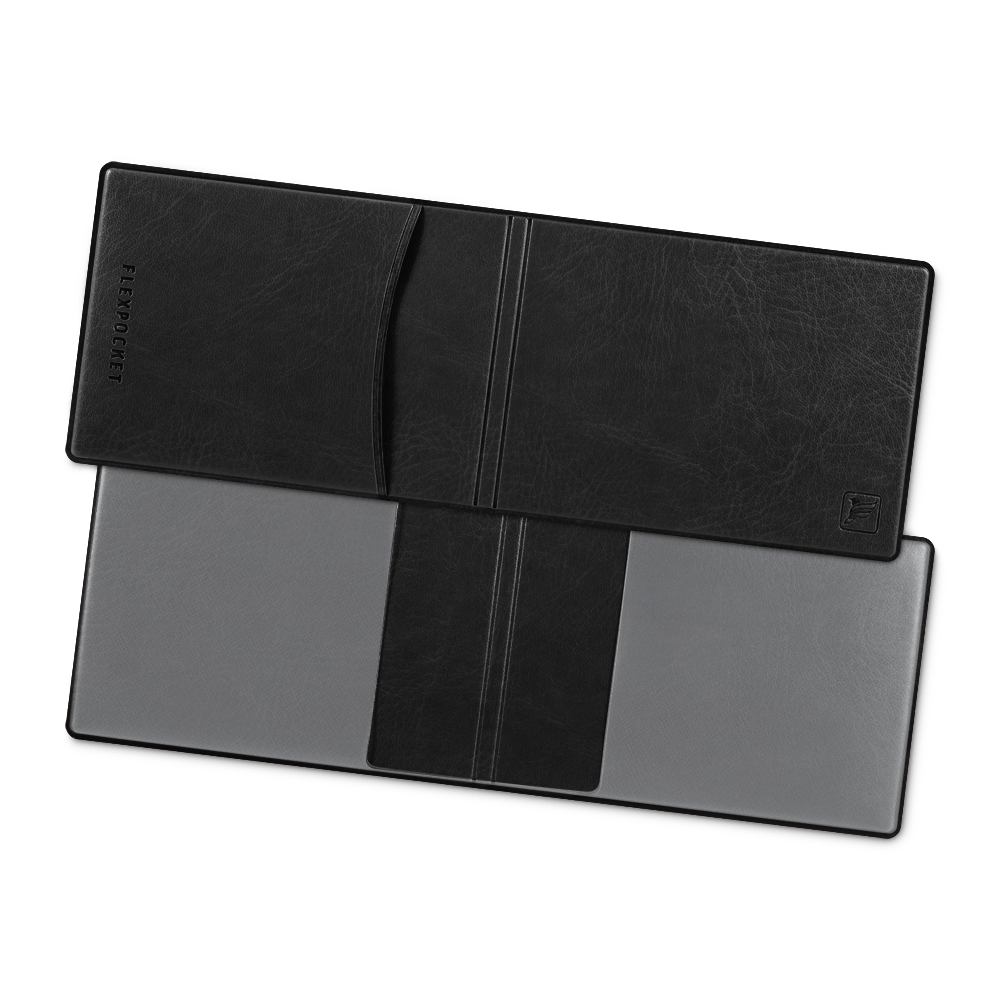 Обложка для удостоверения с карманом, цвет черный Сlassic