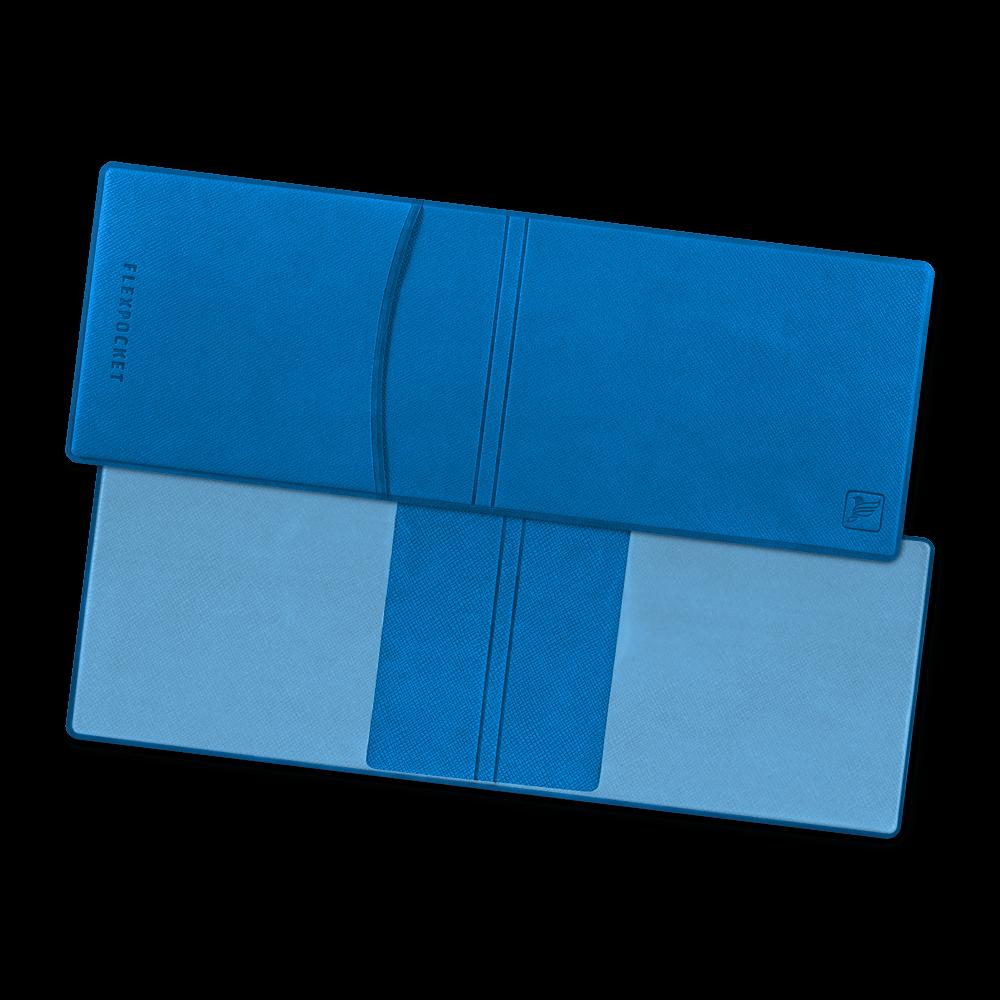 Обложка для удостоверения с карманом, цвет синий