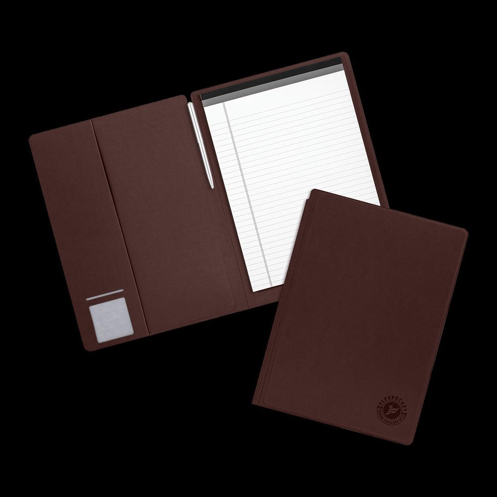 Блокнот-планшет А4 с обложкой, цвет коричневый