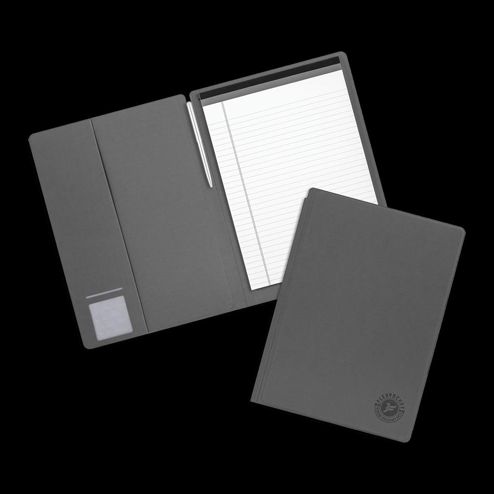 Блокнот-планшет А4 с обложкой, цвет серый