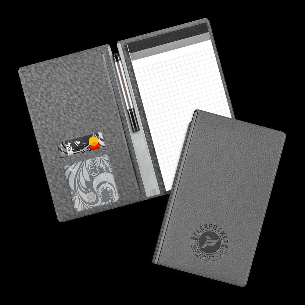 Блокнот-планшет А6 с обложкой, цвет серый