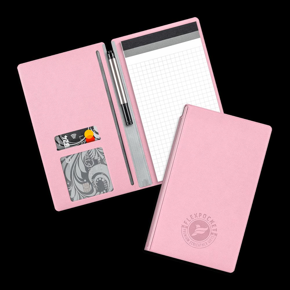 Блокнот-планшет А6 с обложкой, цвет розовый