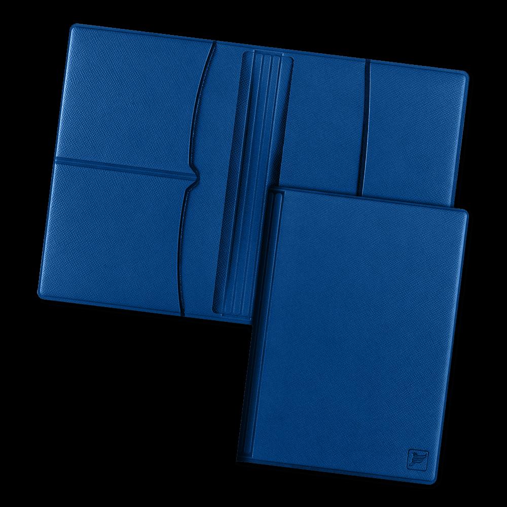Обложка для паспорта с RFID-блокировкой, цвет темно-синий