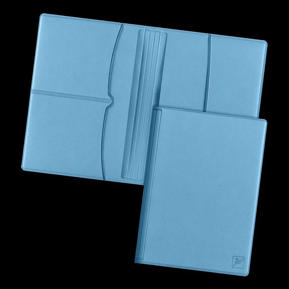 Обложка для паспорта с RFID-блокировкой, цвет голубой