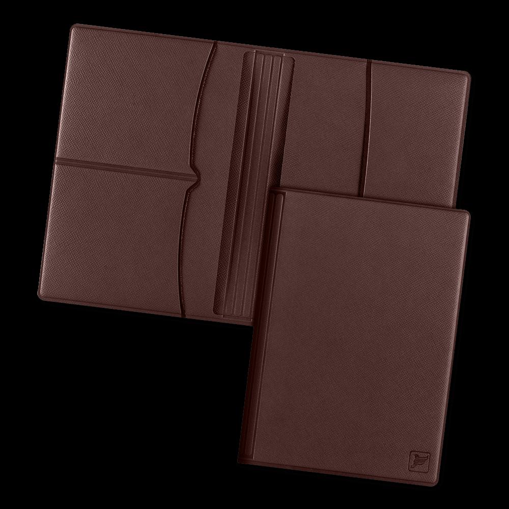 Обложка для паспорта с RFID-блокировкой, цвет коричневый