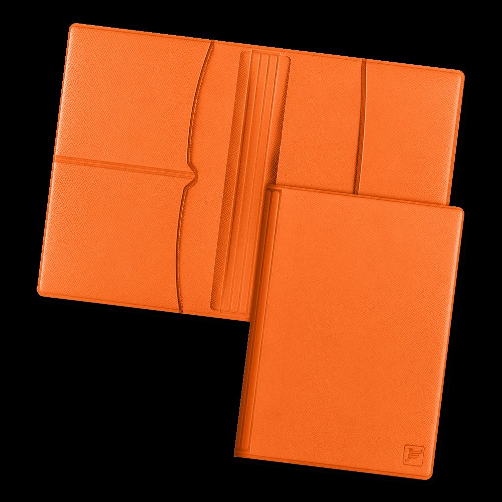 Обложка для паспорта с RFID-блокировкой, цвет оранжевый