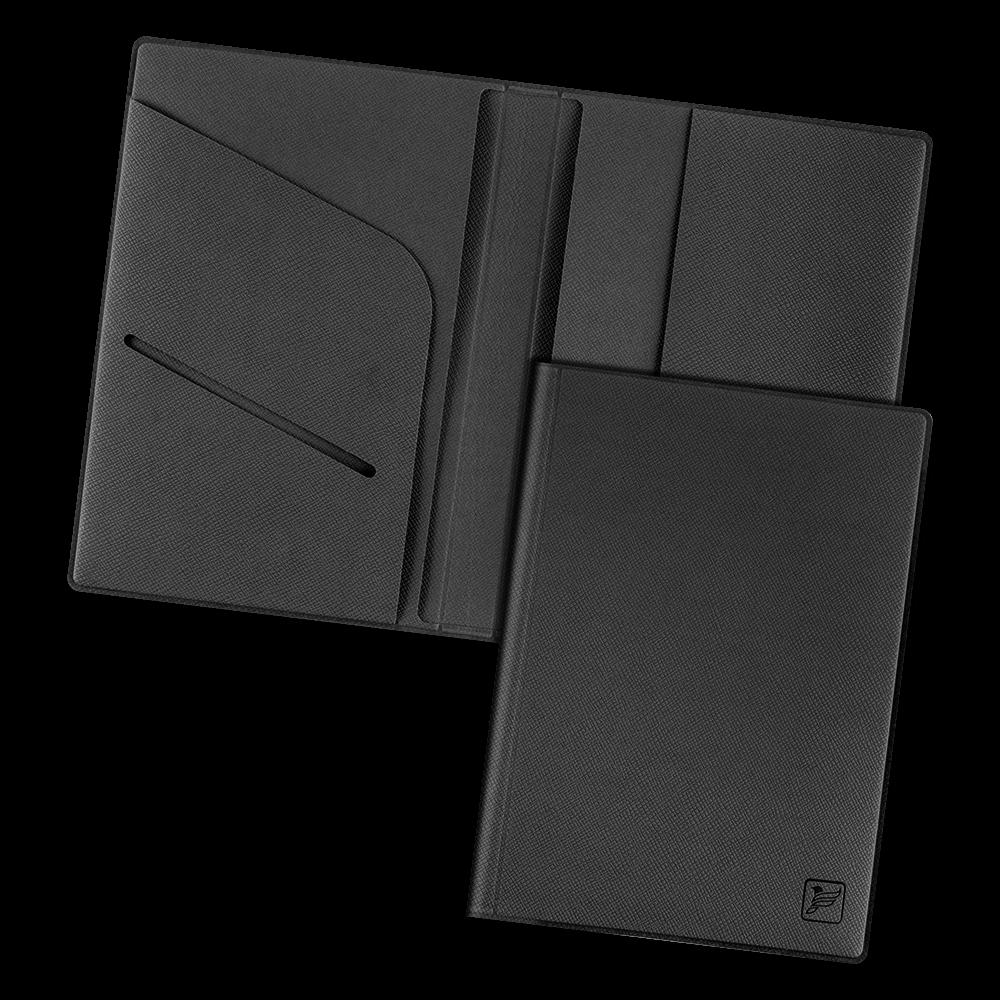 Обложка для паспорта - премиум, цвет черный