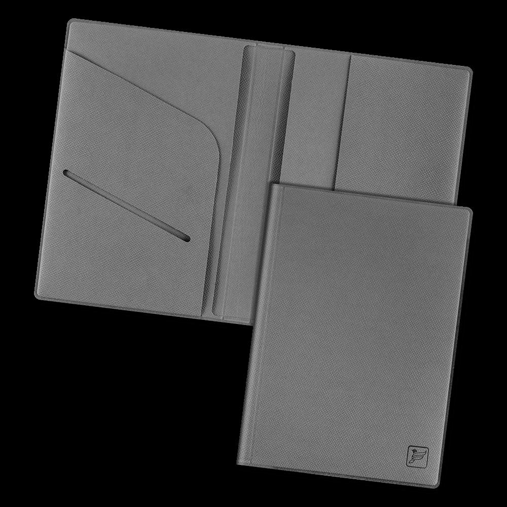 Обложка для паспорта - премиум, цвет серый