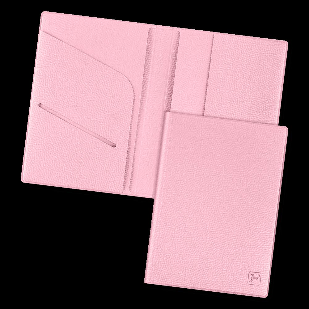 Обложка для паспорта - премиум, цвет розовый