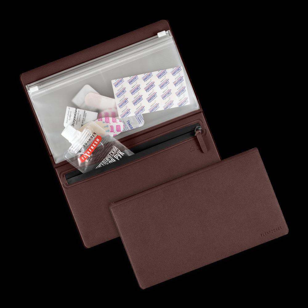 Органайзер - гигиенический набор, цвет коричневый