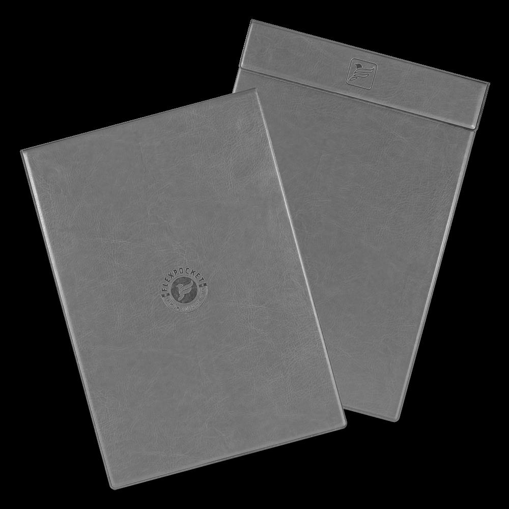 Папка планшет на магнитах, цвет серый classic