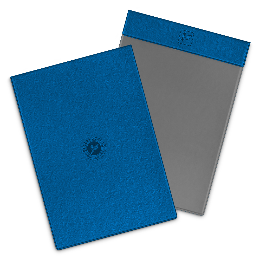 Папка планшет на магнитах, цвет синий