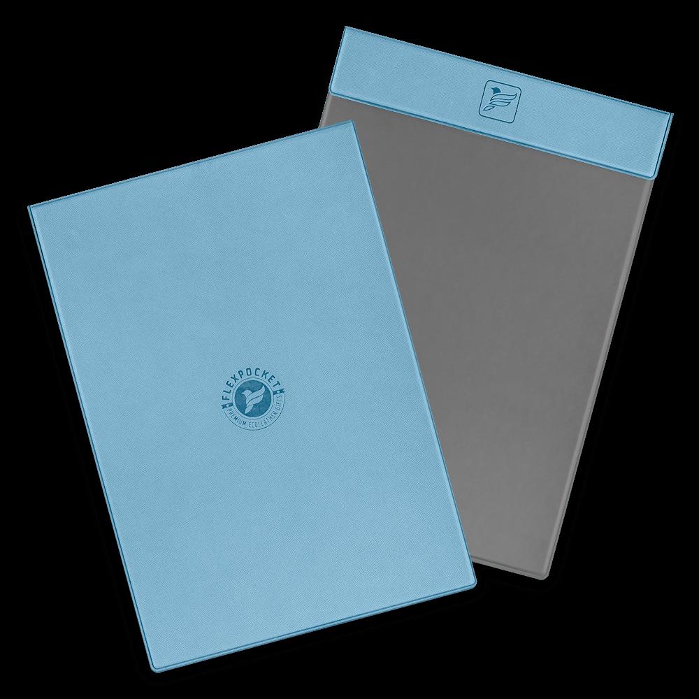 Папка планшет на магнитах, цвет голубой