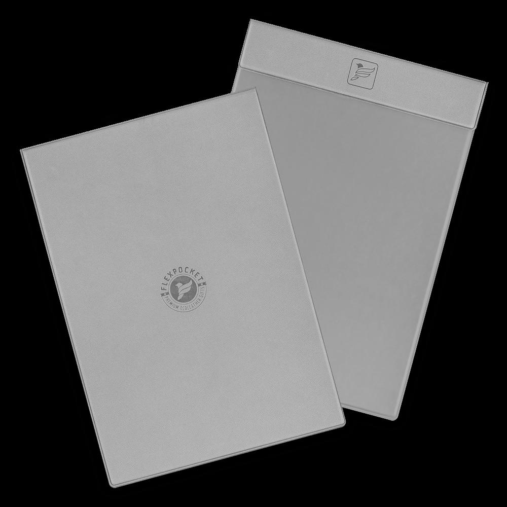Папка планшет на магнитах, цвет светло-серый
