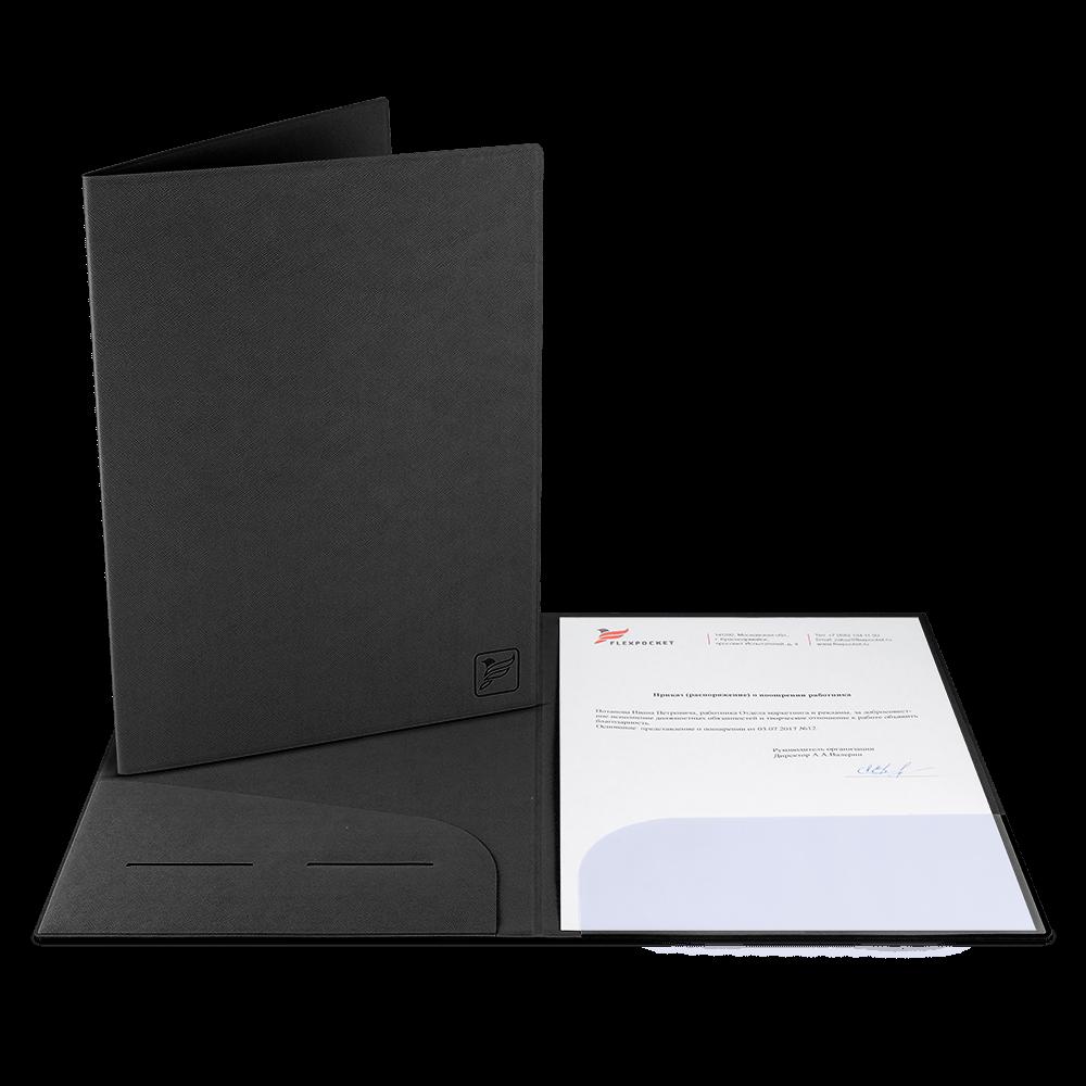 Папка классическая, цвет черный