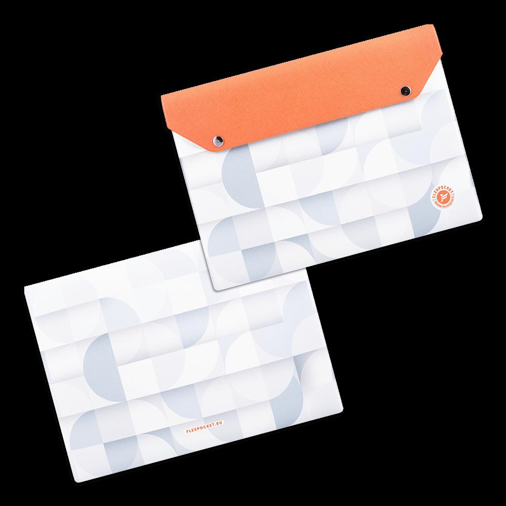 Папка-конверт на двух кнопках, полноцветная печать
