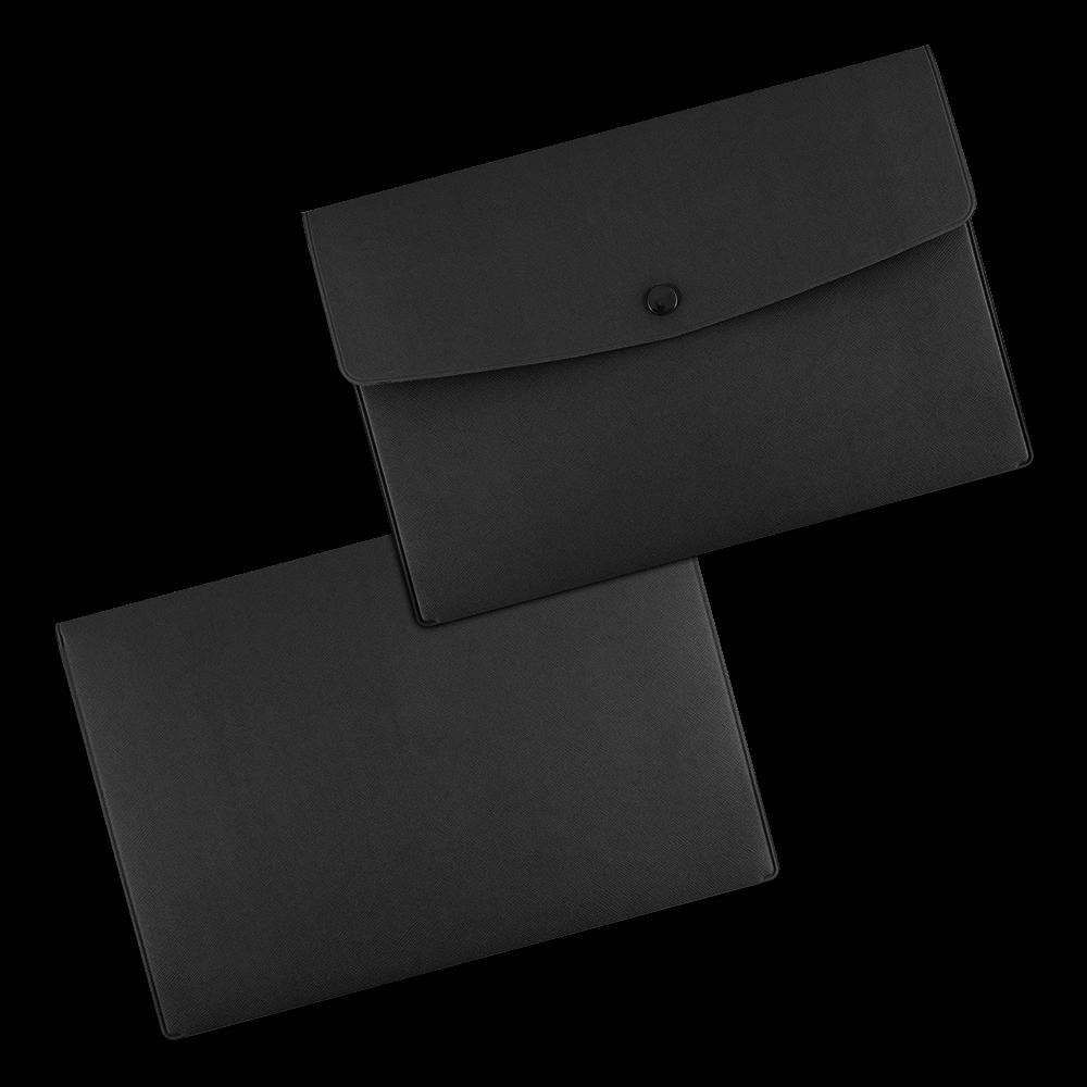 Папка-конверт на кнопке, цвет черный