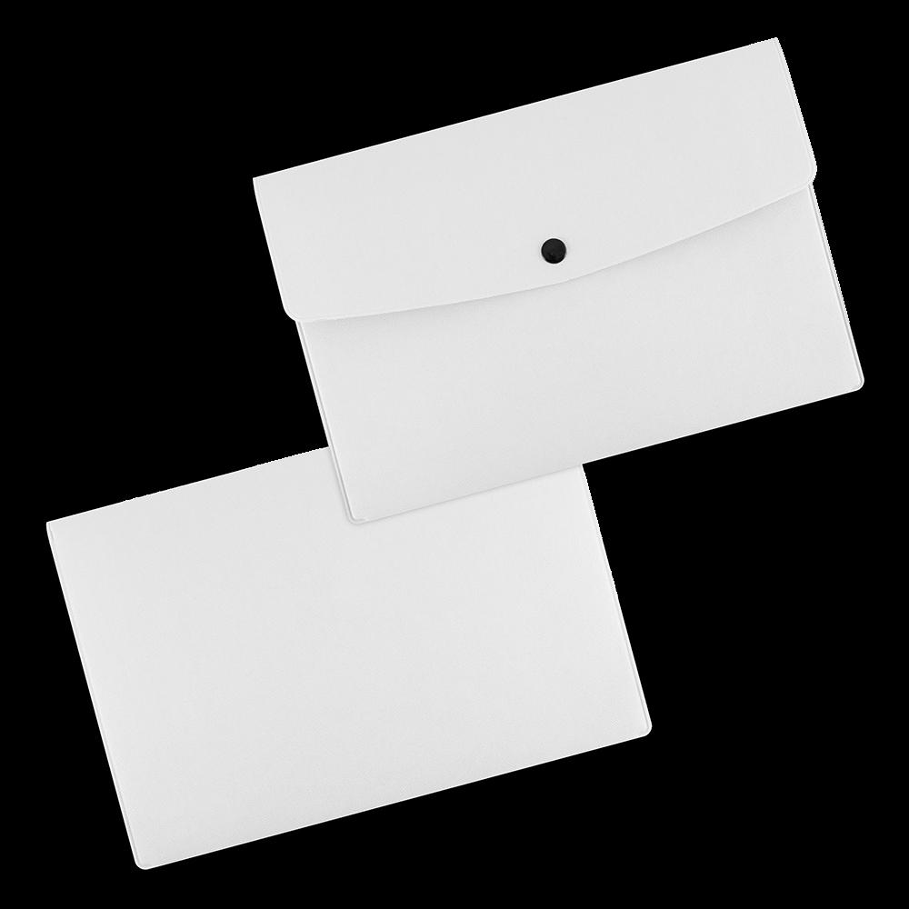 Папка-конверт на кнопке, цвет ,белый