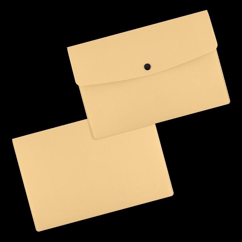 Папка-конверт на кнопке, цвет бежевый