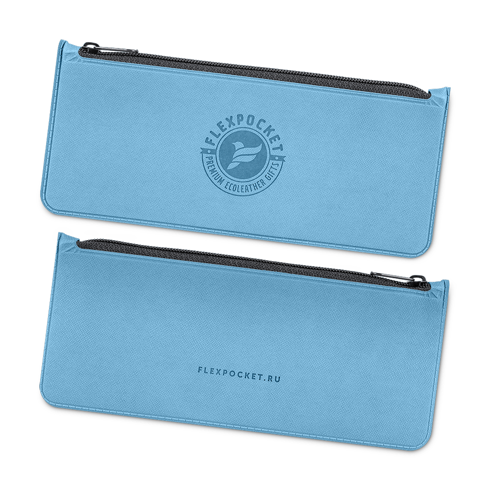 Папка-пенал, цвет голубой