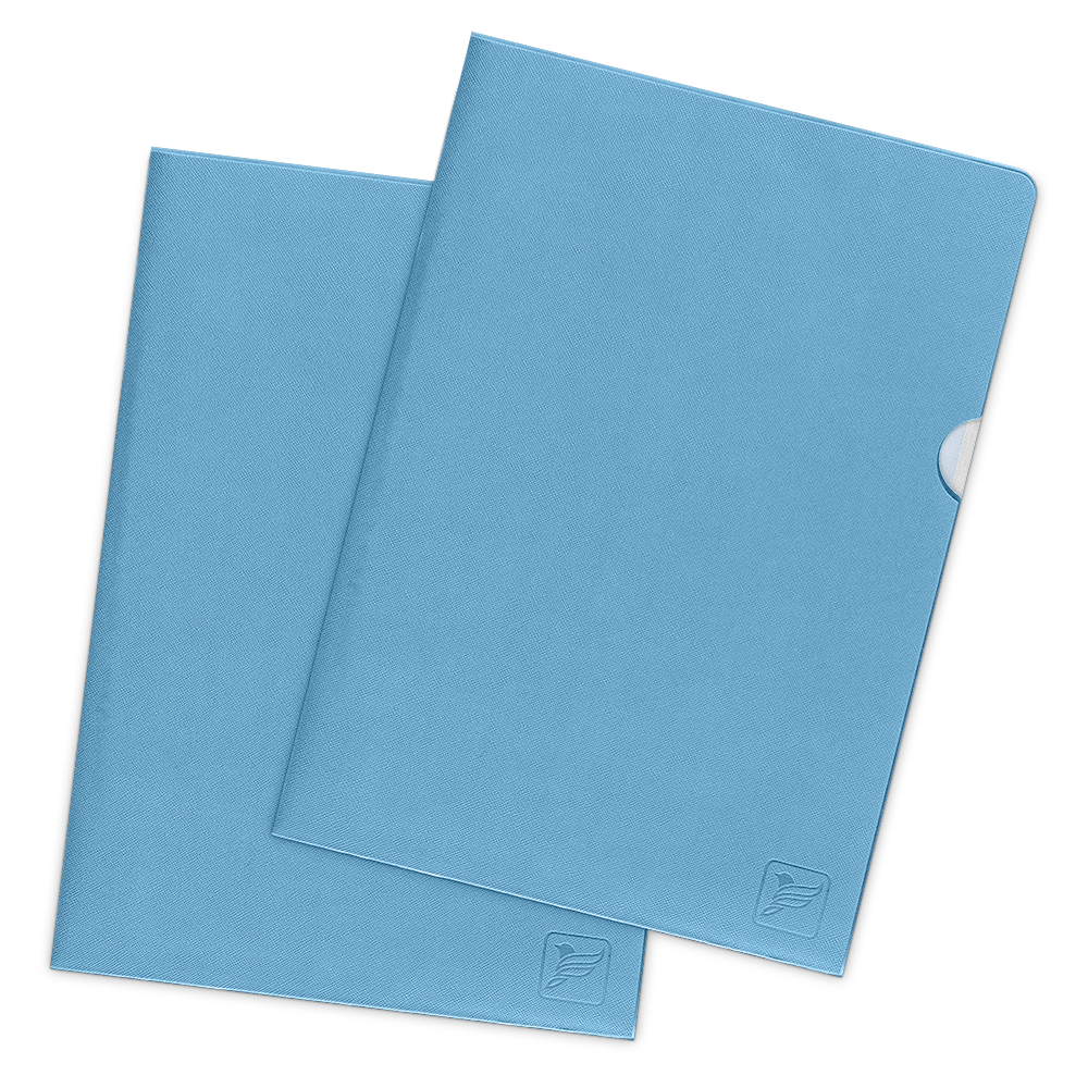 Папка-уголок, цвет голубой