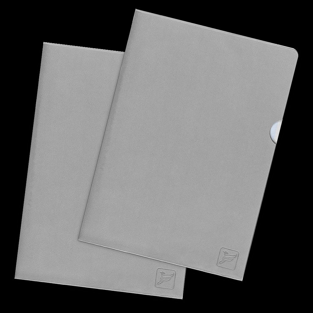 Папка-уголок, цвет светло-серый