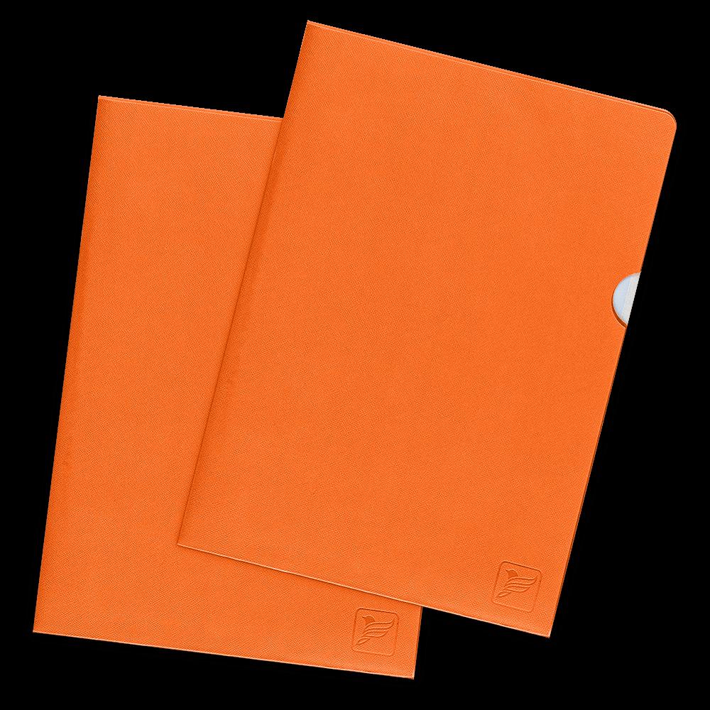 Папка-уголок, цвет оранжевый