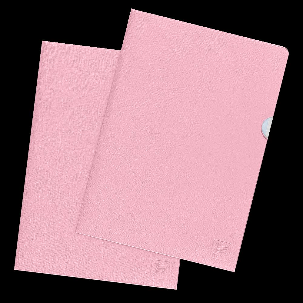 Папка-уголок, цвет розовый