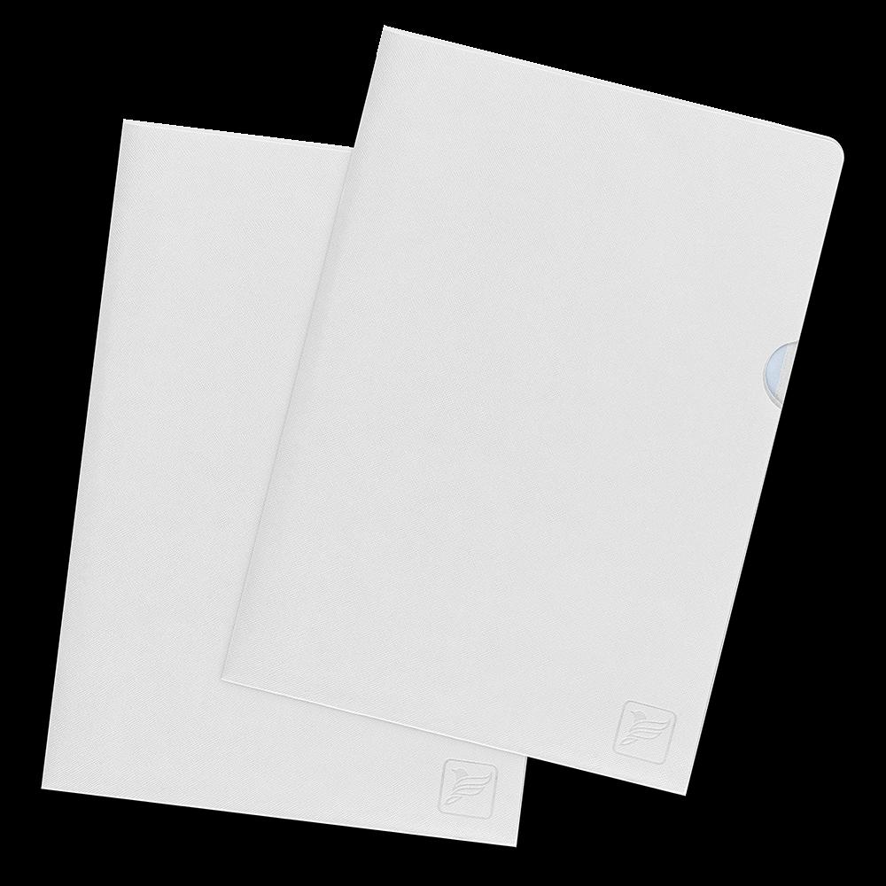 Папка-уголок, цвет белый